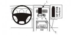 Fixation voiture Proclip  Brodit Nissan Frontier Réf 853240