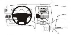 Fixation voiture Proclip  Brodit Toyota Sienna Réf 853241