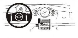Fixation voiture Proclip  Brodit Mini Cooper Réf 853245