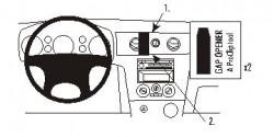 Fixation voiture Proclip  Brodit Mitsubishi Outlander Réf 853251
