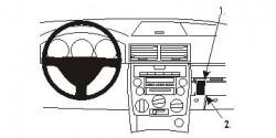 Fixation voiture Proclip  Brodit Mazda 2 Réf 853259