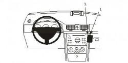 Fixation voiture Proclip  Brodit Opel Meriva Réf 853262