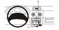Fixation voiture Proclip  Brodit Nissan Kubistar Réf 853264