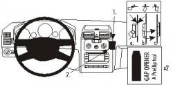 Fixation voiture Proclip  Brodit Volkswagen Touran Réf 853266