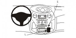 Fixation voiture Proclip  Brodit Toyota Yaris Réf 853270