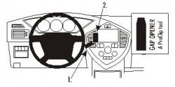 Fixation voiture Proclip  Brodit Kia Carens II  UNIQUEMENT pour changement de vitesse manuel. Réf 853273