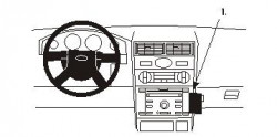 Fixation voiture Proclip  Brodit Ford Mondeo Réf 853279