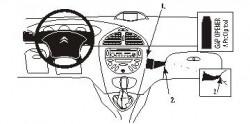 Fixation voiture Proclip  Brodit Citroen C5 Réf 853280