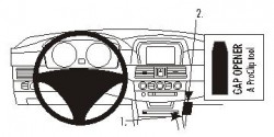Fixation voiture Proclip  Brodit BMW 520-545/M5 E60, E61  PAS pour la pleine garniture en cuir sur la console. Réf 853283