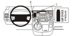 Fixation voiture Proclip  Brodit Volkswagen Multivan Réf 853289