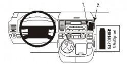 Fixation voiture Proclip  Brodit Volkswagen Multivan Réf 853290