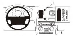 Fixation voiture Proclip  Brodit Audi A3 Réf 853296