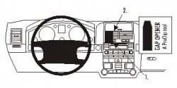Fixation voiture Proclip  Brodit Volkswagen Touareg Réf 853298