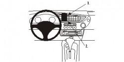 Fixation voiture Proclip  Brodit Honda Insight Réf 853309