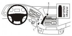 Fixation voiture Proclip  Brodit Mercedes Benz Actros Réf 853355