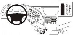 Fixation voiture Proclip  Brodit Mercedes Benz Actros  SEULEMENT pour les modèles avec porte-monnaie plateau / tasse supplémentaire. Réf 853356