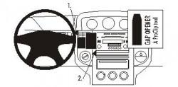 Fixation voiture Nissan X-Trail - pas pour les modèles avec GPS. Réf Brodit 853367