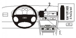 Fixation voiture Proclip  Brodit Audi A6 Réf 853369