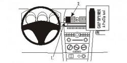 Fixation voiture Proclip  Brodit Mazda 3 Réf 853370