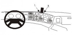 Fixation voiture Proclip  Brodit Scania 4-series Réf 853382