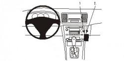 Fixation voiture Proclip  Brodit Subaru Legacy Réf 853389