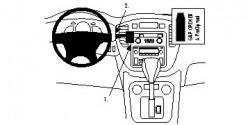 Fixation voiture Proclip  Brodit Toyota Kluger Réf 853395