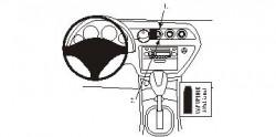 Fixation voiture Proclip  Brodit Honda Integra Réf 853400