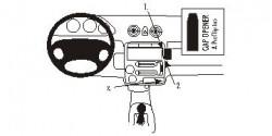 Fixation voiture Proclip  Brodit Hyundai Atos Réf 853411
