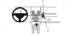 Fixation voiture Proclip  Brodit Volkswagen Beetle Réf 853418