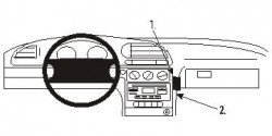 Fixation voiture Proclip  Brodit Ford Mondeo Réf 853422