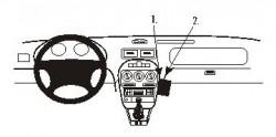 Fixation voiture Proclip  Brodit Rover 200/25 Réf 853425