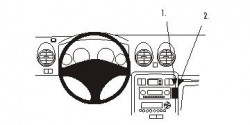 Fixation voiture Proclip  Brodit MG ZS Réf 853426