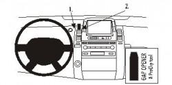 Fixation voiture Proclip  Brodit Toyota Prius Réf 853437