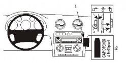 Fixation voiture Proclip  Brodit Audi A3  PAS pour BOSE stéréo. Réf 853439