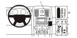 Fixation voiture Proclip  Brodit Chrysler 300  PAS pour écran des modèles de navigation. Réf 853457