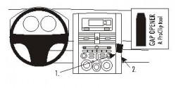 Fixation voiture Proclip  Brodit Mitsubishi Galant Réf 853469