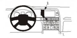 Fixation voiture Proclip  Brodit Audi A6 Réf 853483