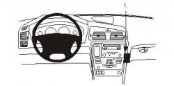 Fixation voiture Proclip  Brodit Volvo S60  PAS pour la finition bois Réf 853496