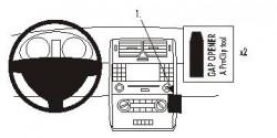 Fixation voiture Proclip  Brodit Mercedes Benz A-Class  Élégance et Avantgarde. Réf 853507
