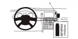 Fixation voiture Proclip  Brodit Audi A6 Réf 853508