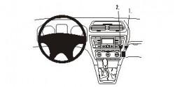 Fixation voiture Proclip  Brodit Skoda Octavia II  UNIQUEMENT pour les Ambiente 05-13, 05-13 Classique, Élégance 05-13, RS 05-13, 07-13 Scout. Réf 853526