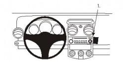 Fixation voiture Proclip  Brodit Mitsubishi Colt Réf 853528