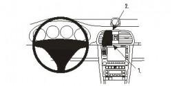 Fixation voiture Proclip  Brodit Porsche 911 Réf 853539