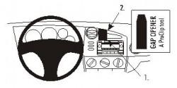 Fixation voiture Proclip  Brodit Toyota Matrix Réf 853559