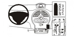 Fixation voiture Proclip  Brodit Renault Grand Modus Réf 853575