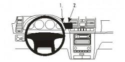 Fixation voiture Proclip  Brodit Ssang Yong Rexton Réf 853576