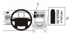 Fixation voiture Proclip  Brodit Kia Sportage Réf 853588