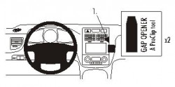 Fixation voiture Proclip  Brodit Kia Sportage Réf 853589