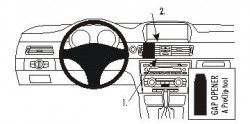 Fixation voiture Proclip  Brodit BMW 316-330/E90/E91/E92/E93  SEULEMENT pour les modèles avec système de navigation de l'usine. PAS pour la finition bois Réf 853594