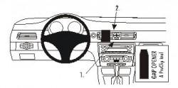 Fixation voiture Proclip  Brodit BMW 316-330/E90/E91/E92/E93  PAS pour les modèles avec option GPS d'origine. PAS pour le finition bois Réf 853598